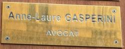 Plaque avocat Me Gasperini